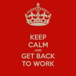 vuelta al trabajo
